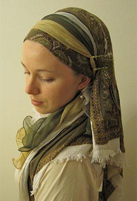 What religion wears head scarfs?