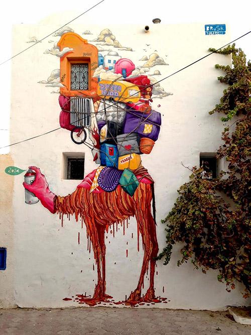 brusk-camel-hood-djerba-graffiti